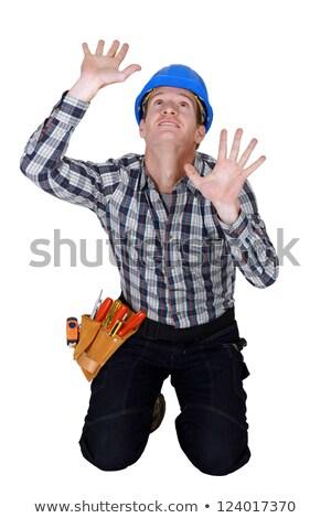 Budowniczy uwięzione człowiek budowy pracy przemysłu Zdjęcia stock © photography33