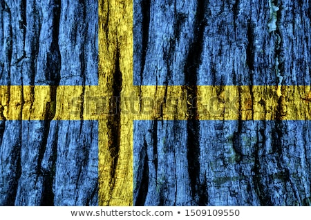 Zdjęcia stock: Szwecja · retro · banderą · vintage · grunge · starych