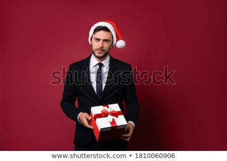 jóképű · üzletember · öltöny · meglepődött · középső · kor - stock fotó © scheriton