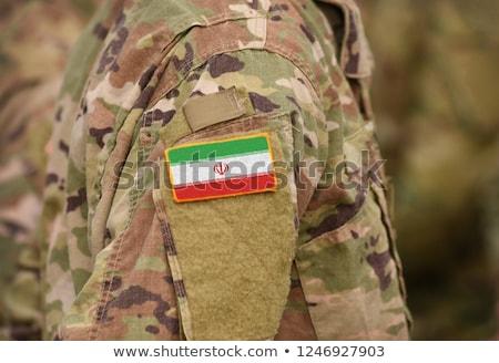 Leger Iran frame oorlog dienst silhouet Stockfoto © perysty