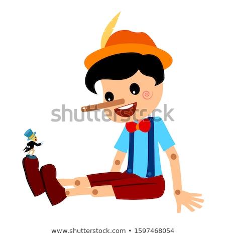 Literair karakter vergadering witte hout kind Stockfoto © perysty