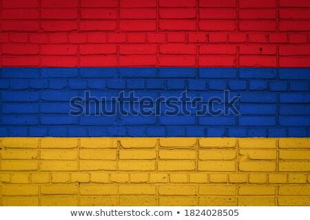 флаг Армения кирпичная стена окрашенный Гранж текстуры Сток-фото © creisinger
