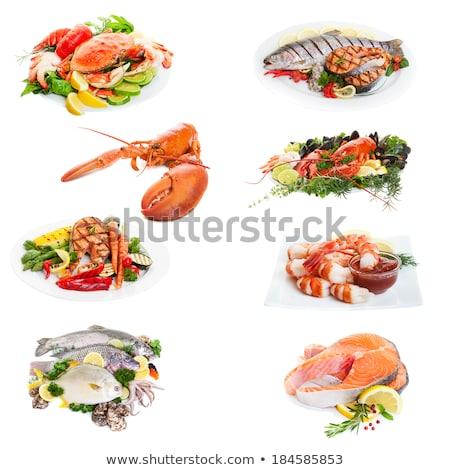 sea food collage Stock photo © ozaiachin