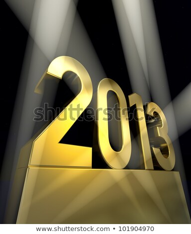 golden 2013 on a pedestal Stock photo © marinini