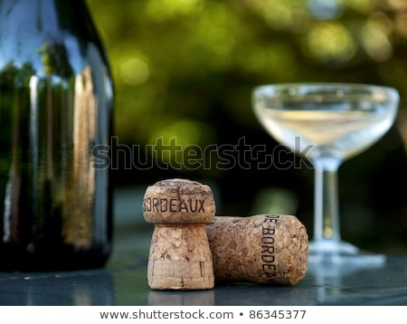 winebottle, glass and cork in bordeaux france Stock photo © travelphotography