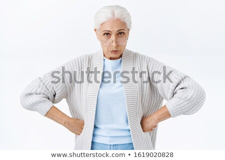 christmas woman with hands on hips stock photo © feedough