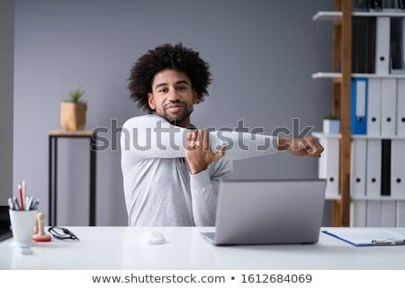 男 · ストレッチング · オフィス · 手 · 背景 · ビジネスマン - ストックフォト © photography33
