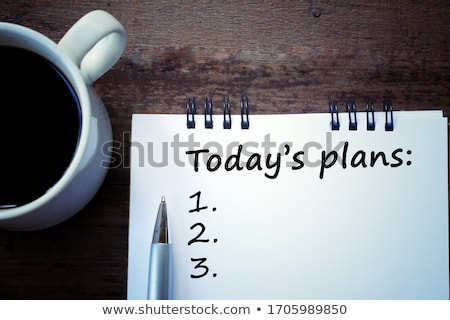 Plan słowa napisany notebooka papieru tle Zdjęcia stock © raywoo