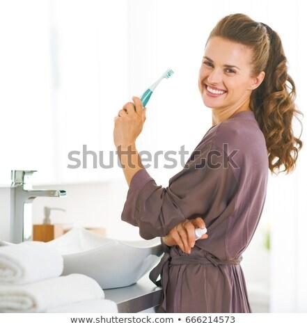 健康 歯 現代 歯ブラシ 白 フォーカス ストックフォト © Arsgera