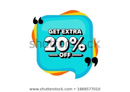 20 percentage off sale blue banner stock photo © marinini