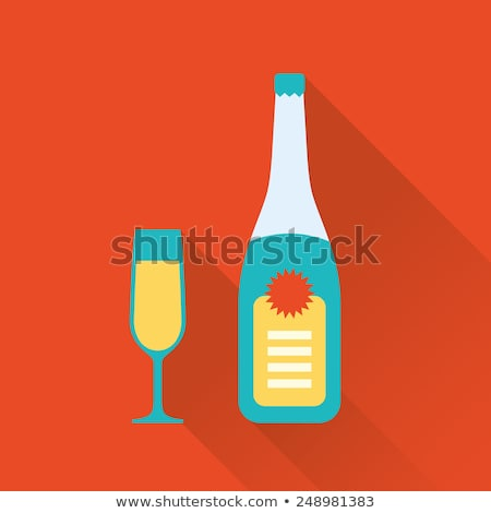 стекла клей шампанского таблице вечеринка счастливым Сток-фото © oneinamillion