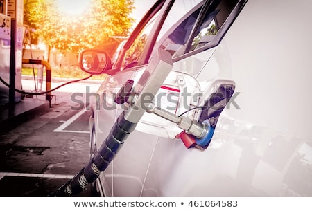 Stock photo: car at erdgas station