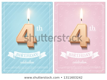 Number Four Candle Stock photo © iqoncept