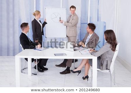 Empresario reunión hombre vidrio Foto stock © photography33