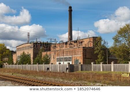 öreg szovjet gyár ipari építészet szövetség Stock fotó © ultrapro