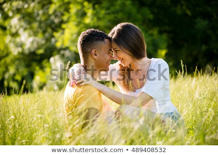 Multi racial couple as lovers Stock photo © Forgiss