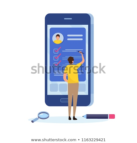 Fill form and document web interface icon Stock photo © make