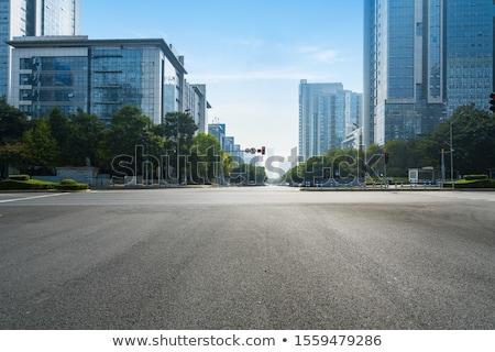Város centrum egyedi digitális rajz szökőkút Stock fotó © trgowanlock