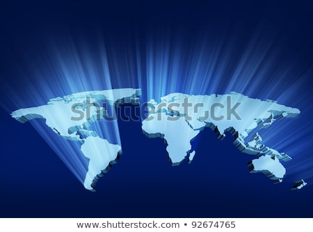 Glowing 3D Wold Map Stock photo © Lightsource