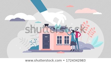 épület megtakarított pénz pénzkeresés takarékosság pénzügyek illusztrált Stock fotó © Lightsource