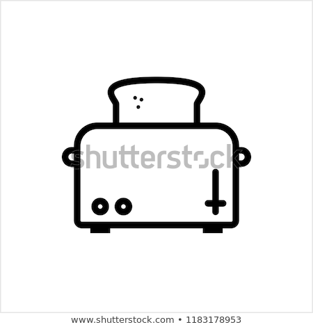 Vector icon toaster Stock photo © zzve