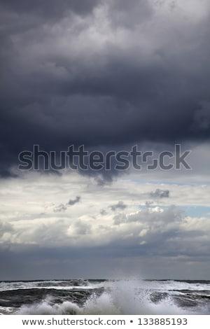 Inverno mar dramático nuvens sombra tempestuoso Foto stock © eldadcarin