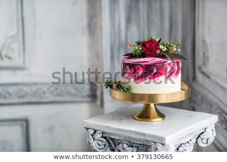 Düğün pastası üst Stok fotoğraf © KMWPhotography