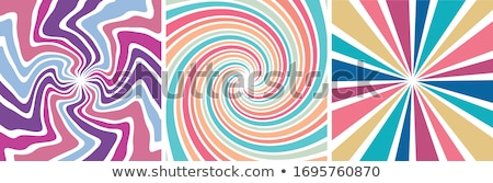 Textured Spiral of Coloured Fabric Stock photo © Theohrm