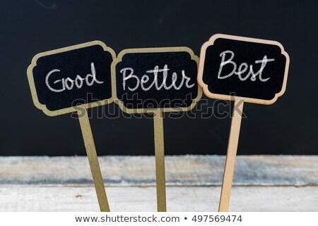 Goede beter best kleurrijk woorden Blackboard Stockfoto © dacasdo
