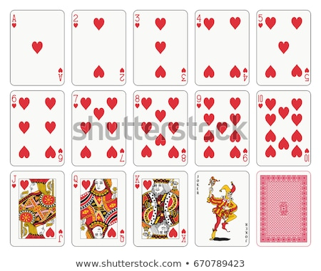 Poker hearts card, vector illustration Stock photo © carodi