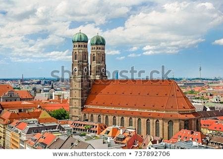 Stadt München Kirche Dame Deutschland Himmel Stock foto © haraldmuc