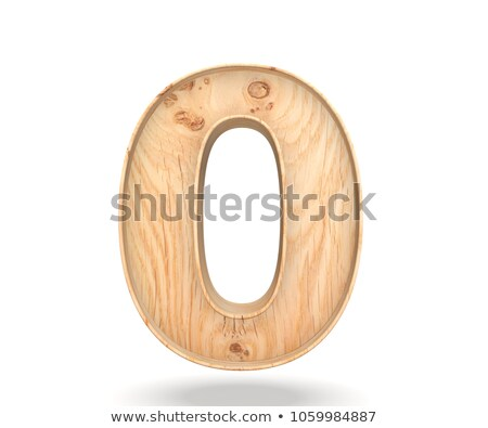 Wooden numeric 0 Stock photo © stoonn
