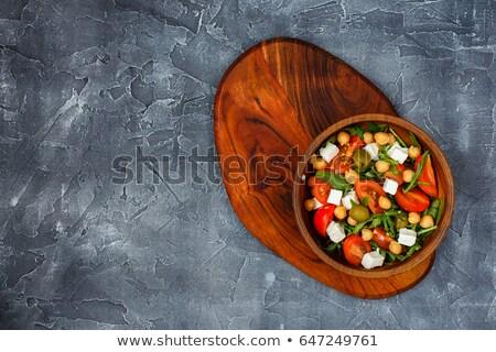 Conselho tofu tomates salada asiático Ásia Foto stock © M-studio