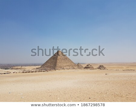 four pyramids on the sand stock photo © alekleks