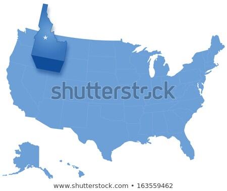 Mapa Estados Unidos Idaho fora político Foto stock © Istanbul2009