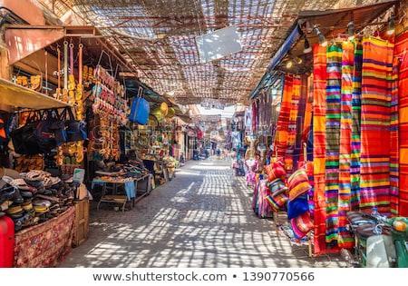 Kleurrijk verkoop markt Marokko mode Stockfoto © haraldmuc