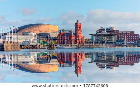budynków · dwa · miejskich · budynku · lata · niebieski - zdjęcia stock © trgowanlock