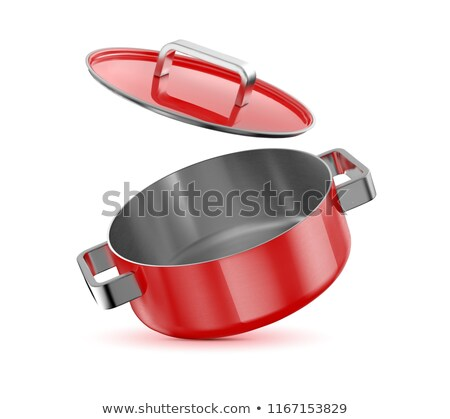 red and white saucepan  Stock photo © compuinfoto
