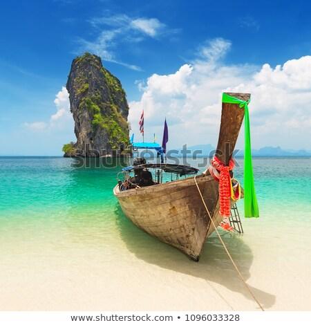 tekne · phuket · geleneksel · Tayland · su · doğa - stok fotoğraf © ivz