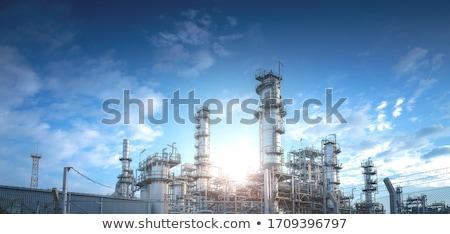 Energiecentrale zonsopgang hemel stad zonsondergang industriële Stockfoto © lightpoet