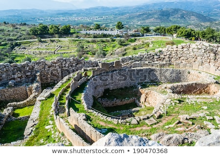Mycenae, archaeological place in Greece Stock photo © ankarb