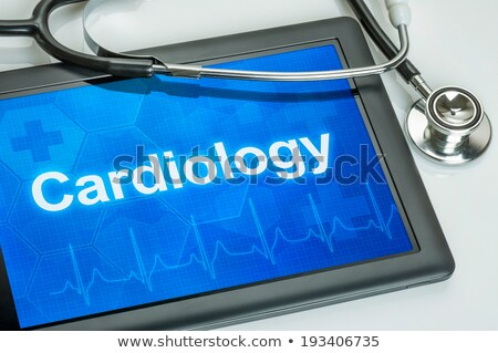 Tablet with the medical specialty Cardiology on the display Stock photo © Zerbor