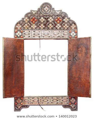 the background frame with precious stones in the shape of a hexa Stock photo © yurkina