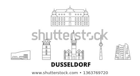 現代 塔 ドイツ テレビ メディア 港 ストックフォト © EwaStudio