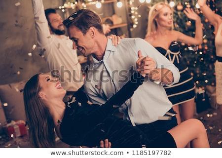 Mooie jonge vrouw dansen tango vrouw meisje Stockfoto © Nejron