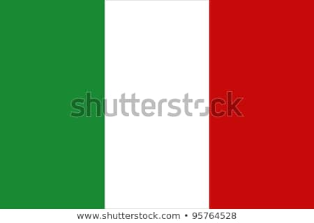 Zdjęcia stock: Banderą · Włochy · grunge · tle · ramki · zielone
