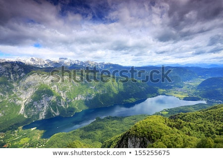 Lac alpes vertical vue une beaucoup Photo stock © 1Tomm