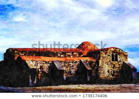 Eski kilise gökyüzü Bina çapraz kapı Stok fotoğraf © Antonio-S
