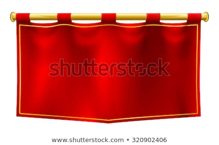 Stock photo: Medieval knight on golden wall background