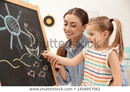 cute little child in kindergarten class stock photo © d13